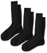 Charles Tyrwhitt Black ribbed cotton 3 pack socks