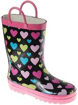 Laura Ashley Black Heart Loop Rain Boot
