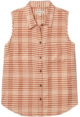 Toad&Co Airbrush Sleeveless Deco Shirt (Spanish Villa Gingham) Women's Sleeveless