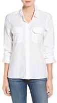 AG Jeans Ace Split Hem Cotton Shirt