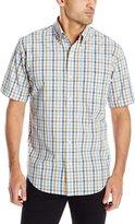 Arrow Men's Short Sleeve Hamilton Poplin Multi Gingham Shirt