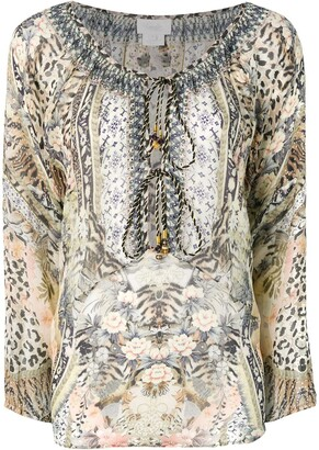 Camilla Mixed Print Blouse