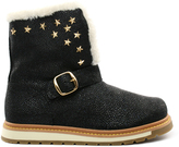 Burnetie Black Suede Uniform Boot