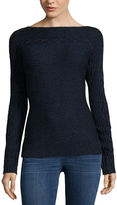 ST. JOHN'S BAY St. John's Bay Long-Sleeve Cable-Yoke Sweater