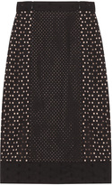 Tamara Mellon Highwaisted Eyelet Skirt