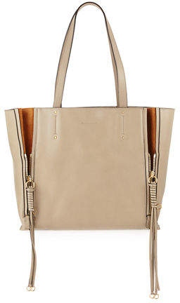 Chloé Milo Medium Leather & Suede Tote Bag