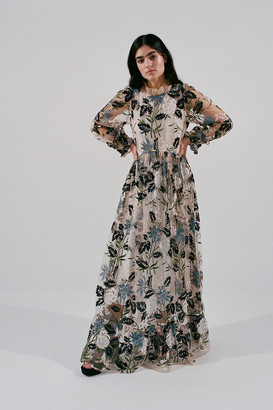 Sister Jane Soiree Sheer Embroidered Maxi Dress