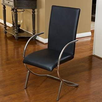Christopher Knight Home Lydia Leather/Chrome Chairs (Set of 2)