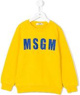 MSGM logo print sweatshirt - kids - Cotton - 10 yrs