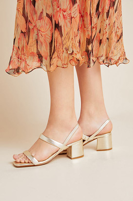 Anthropologie Riley Strappy Heels By in Blue Size 36