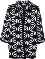 DSQUARED2 oversize pattern knit coat - women - Polyamide/Viscose/Cashmere/Wool - XS