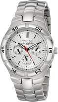 Nautica Men's N10074 -Tone Stainless Steel Watch with Link Bracelet