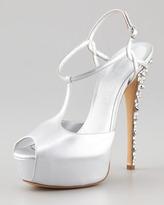 Casadei T-Strap Stud-Heel Sandal