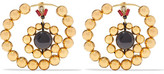 Marni Gold-tone, Crystal And Resin Earrings - one size