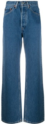 RE/DONE Wide-Leg High Rise Jeans