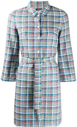 A.P.C. Alie madras plaid shirt dress