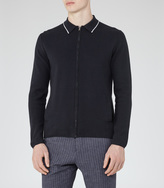 Reiss Carlo PIPED ZIP CARDIGAN