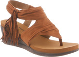 BearPaw Women's Avril Fringe Wedge Sandal