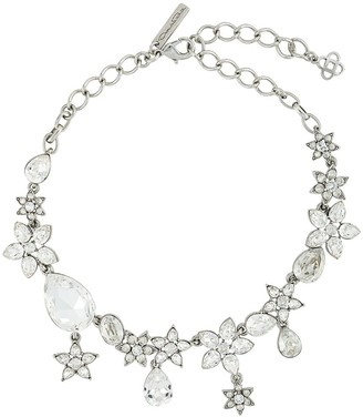 Oscar de la Renta Crystal Flower Necklace