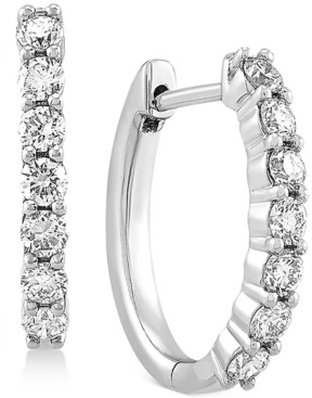 """Forever Grown Diamonds Lab Created Diamond Small Hoop Earrings (5/8 ct. t.w.) in Sterling Silver, .63"""""""