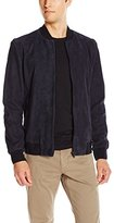 Theory Men's Brant L Amorim Suede Bomber Jacket