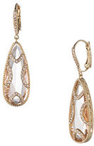 Jenny Packham Crystal and Champagne Gold Teardrop Earrings