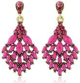 6th Borough Boutique Magenta Crystal Earrings