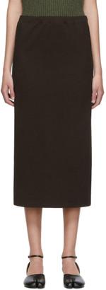 Our Legacy Brown Compact Rib Tube Skirt