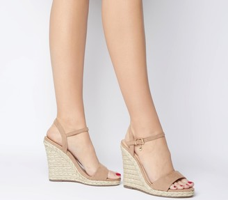 Office Honolulu Dressy Espadrille Wedges Nude With Charm