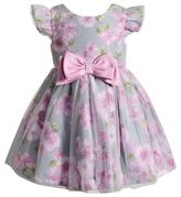 Sweet Heart Rose Sweetheart Rose Baby's Floral Flutter Sleeves Dress