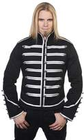 Banned Military Drummer Jacket - Black/Black / L