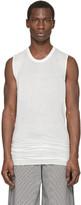 Rick Owens White Sleeveless Overlong T-Shirt