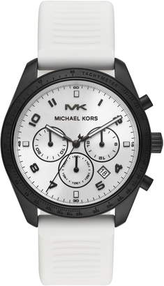 MICHAEL Michael Kors Keaton Chronograph Silicone Strap Watch, 43mm