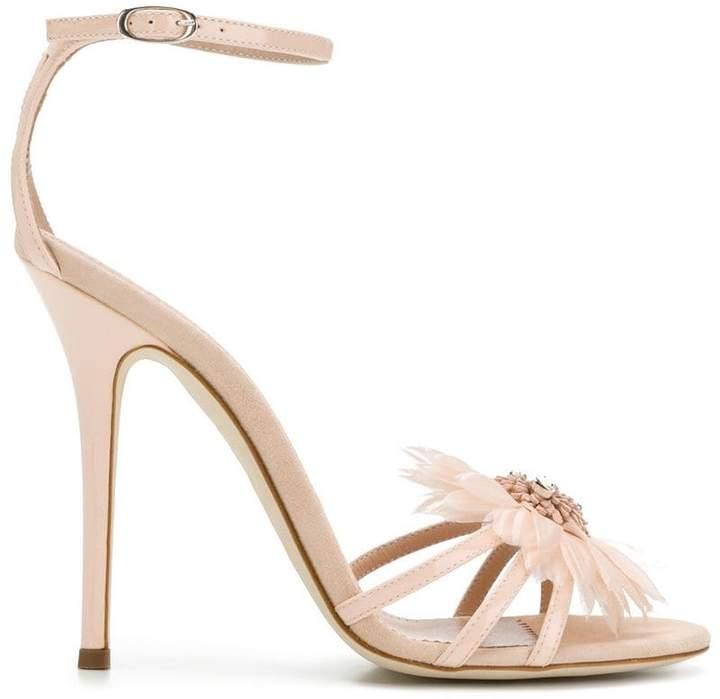 Giuseppe Zanotti Design floral embellishment stiletto sandals