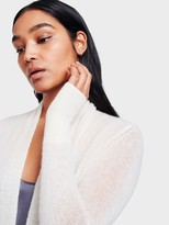 White + Warren Cashmere Cropped Swing Cardigan