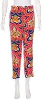 Celine Mid-Rise Silk Pants