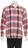Etro Check Print Button-Up Shirt w/ Tags