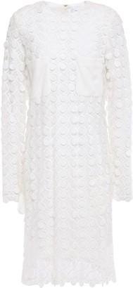 Carven Crepe-paneled Guipure Lace Mini Dress