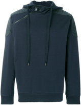Pierre Balmain biker panel shoulders hoodie