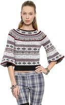 Alexander McQueen Silk, Wool & Cotton Jacquard Sweater