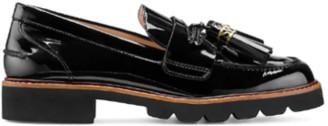 Stuart Weitzman Manila Signature Loafer - Black Patent