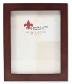 """Lawrence Frames 755945 Espresso Wood Picture Frame - 4"""" x 5"""""""