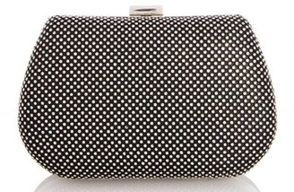 Dorothy Perkins Womens Quiz Black Diamante Front Box Bag, Black