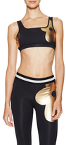 Cynthia Rowley Metallic Daisy Bra Top