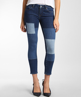 Mavi Jeans Indigo Color Block Icon Adriana Crop Jeans - Women