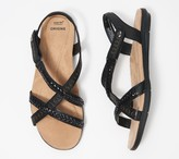 Earth Origins Leather Cross Strap Sandals - Belle Bently