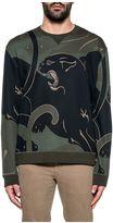 Valentino Green/black Panther Print Sweatshirt