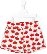 Au Jour Le Jour Kids - apple print shorts - kids - Cotton - 4 yrs