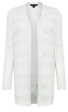 Dorothy Perkins Womens Cream Crochet Cardigan