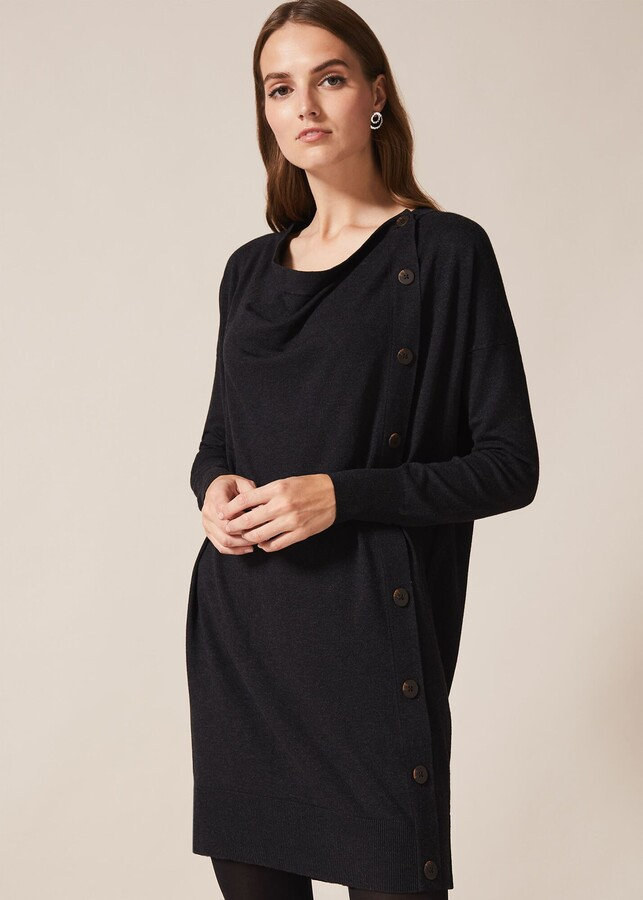 Phase Eight Bailie Button Knit Dress